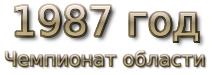 1987 год. Чемпионат области