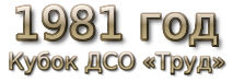 1981 год. Кубок области, кубок ДСО «Труд» и кубок города
