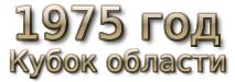 1975 год. Кубок области