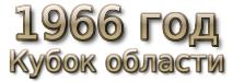 1966 год. Кубок области